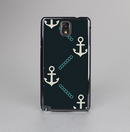 The Blue & Teal Vintage Solid Color Anchor Linked Skin-Sert Case for the Samsung Galaxy Note 3
