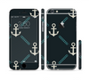 The Blue & Teal Vintage Solid Color Anchor Linked Sectioned Skin Series for the Apple iPhone 6