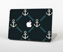 "The Blue & Teal Vintage Solid Color Anchor Linked Skin Set for the Apple MacBook Pro 15"" with Retina Display"