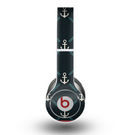 The Blue & Teal Vintage Solid Color Anchor Linked copy Skin for the Beats by Dre Original Solo-Solo HD Headphones
