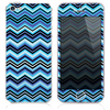 The Blue Thin Lined Chevron Pattern v4 Skin for the iPhone 3, 4-4s, 5-5s or 5c