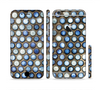 The Blue Tiled Abstract Pattern Sectioned Skin Series for the Apple iPhone 6