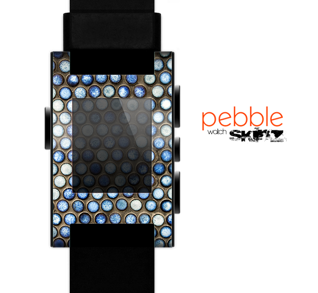 The Blue Tiled Abstract Pattern Skin for the Pebble SmartWatch