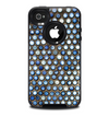 The Blue Tiled Abstract Pattern Skin for the iPhone 4-4s OtterBox Commuter Case
