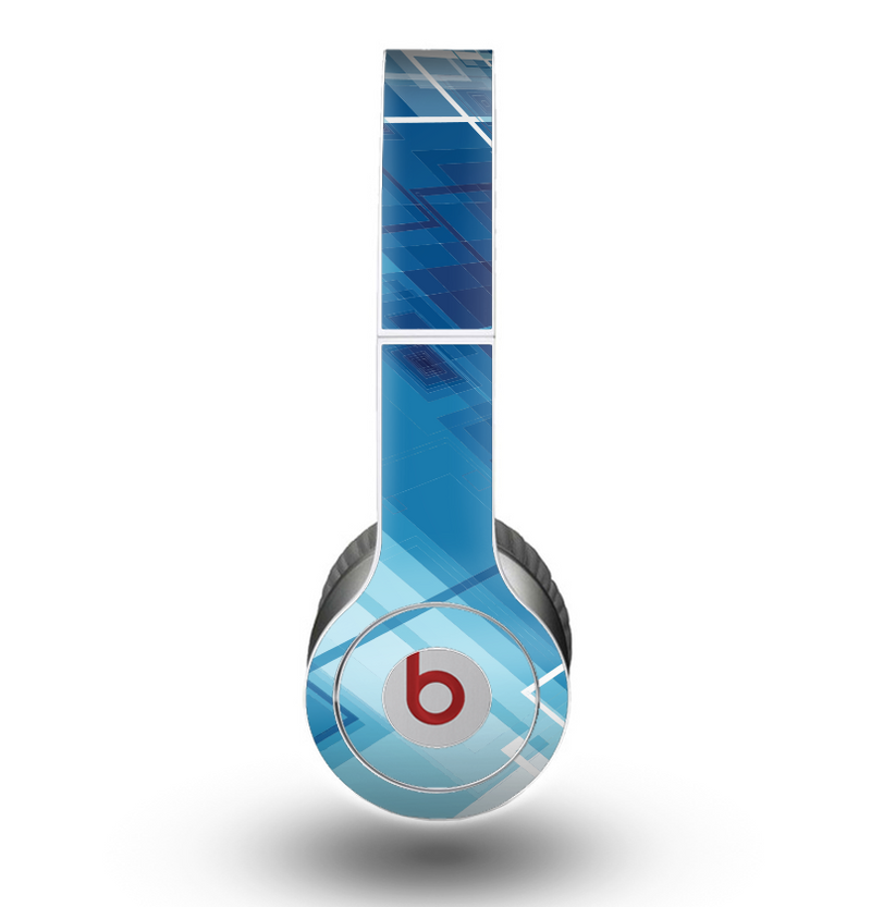 The Blue Transending Squares Skin for the Beats by Dre Original Solo-Solo HD Headphones