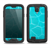 The Blue Translucent Outlined Pentagons Samsung Galaxy S4 LifeProof Fre Case Skin Set