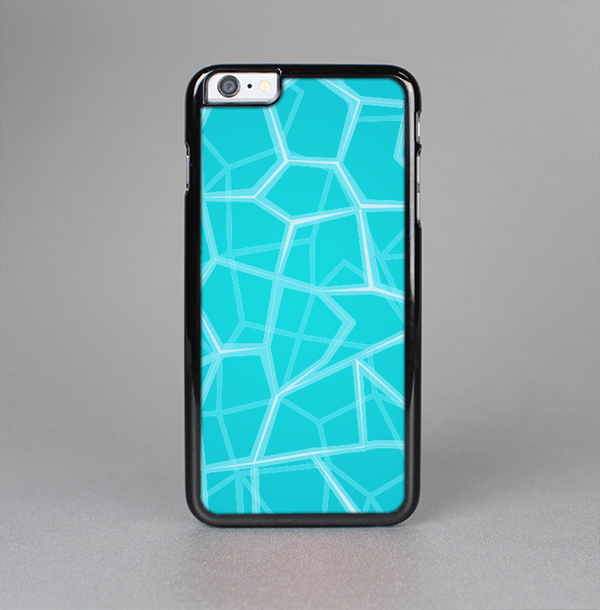 The Blue Translucent Outlined Pentagons Skin-Sert Case for the Apple iPhone 6 Plus