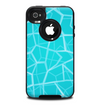 The Blue Translucent Outlined Pentagons Skin for the iPhone 4-4s OtterBox Commuter Case