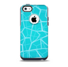 The Blue Translucent Outlined Pentagons Skin for the iPhone 5c OtterBox Commuter Case