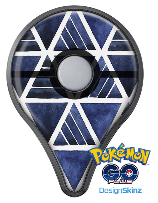 The Blue Triangluar Aztec Pattern Pokémon GO Plus Vinyl Protective Decal Skin Kit