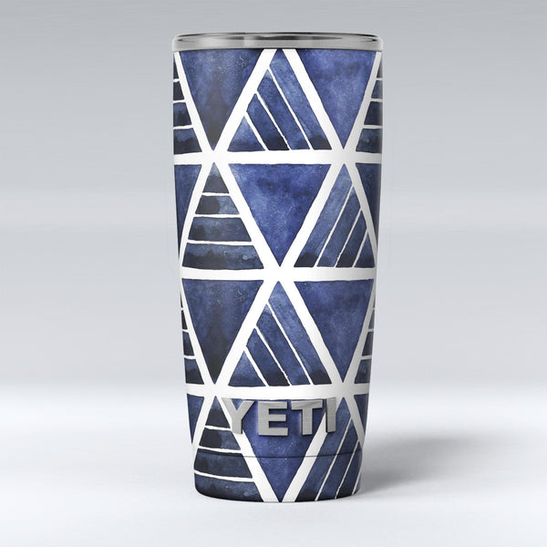 The_Blue_Triangluar_Aztec_Pattern_-_Yeti_Rambler_Skin_Kit_-_20oz_-_V1.jpg