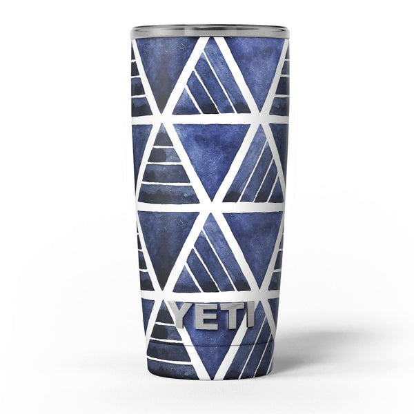 The_Blue_Triangluar_Aztec_Pattern_-_Yeti_Rambler_Skin_Kit_-_20oz_-_V5.jpg