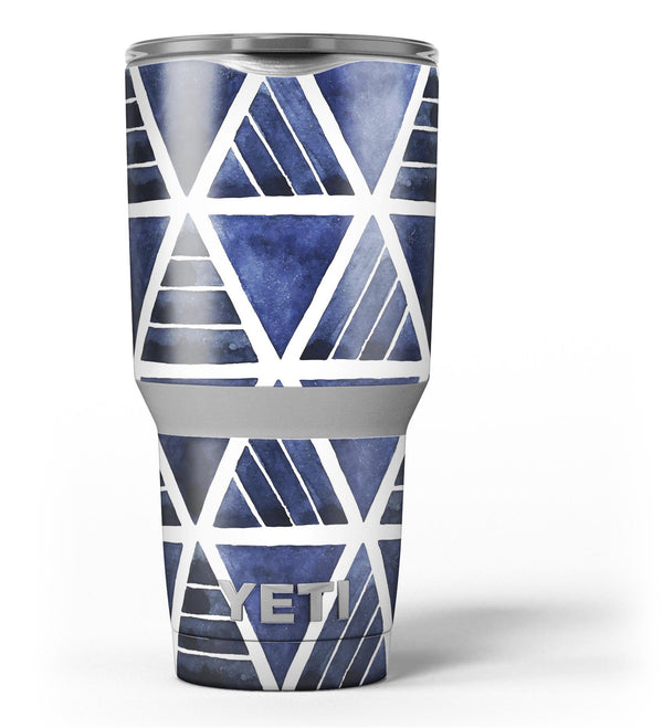 The_Blue_Triangluar_Aztec_Pattern_-_Yeti_Rambler_Skin_Kit_-_30oz_-_V3.jpg