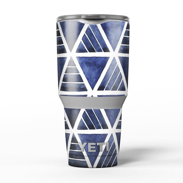 The_Blue_Triangluar_Aztec_Pattern_-_Yeti_Rambler_Skin_Kit_-_30oz_-_V5.jpg