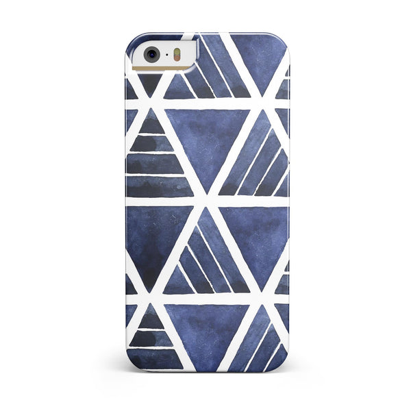 The_Blue_Triangluar_Aztec_Pattern_-_iPhone_5s_-_Gold_-_One_Piece_Glossy_-_V3.jpg