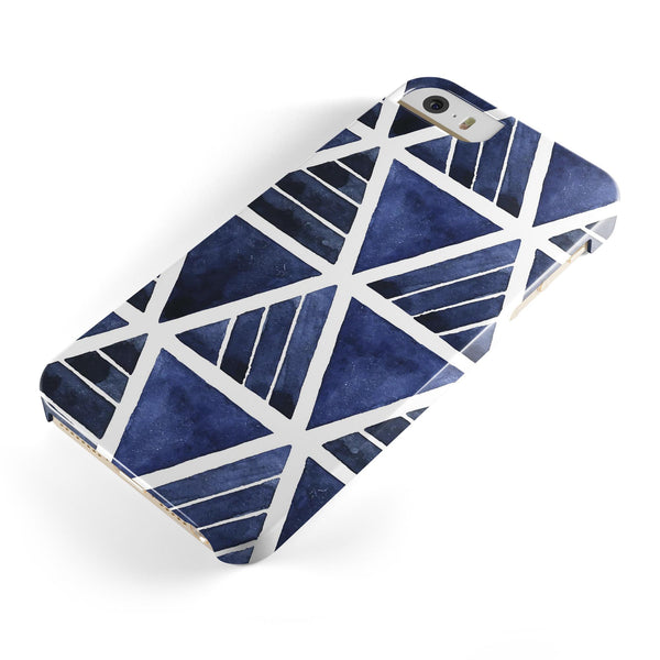 The_Blue_Triangluar_Aztec_Pattern_-_iPhone_5s_-_Gold_-_One_Piece_Glossy_-_V1.jpg