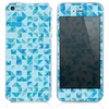 The Blue Triangular Tiles Skin for the iPhone 3, 4-4s, 5-5s or 5c