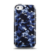 The Blue Vector Camo Apple iPhone 5c Otterbox Symmetry Case Skin Set