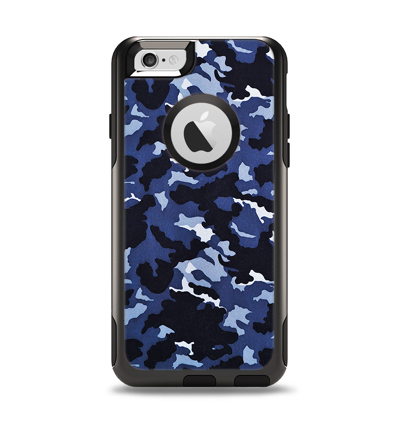 The Blue Vector Camo Apple iPhone 6 Otterbox Commuter Case Skin Set