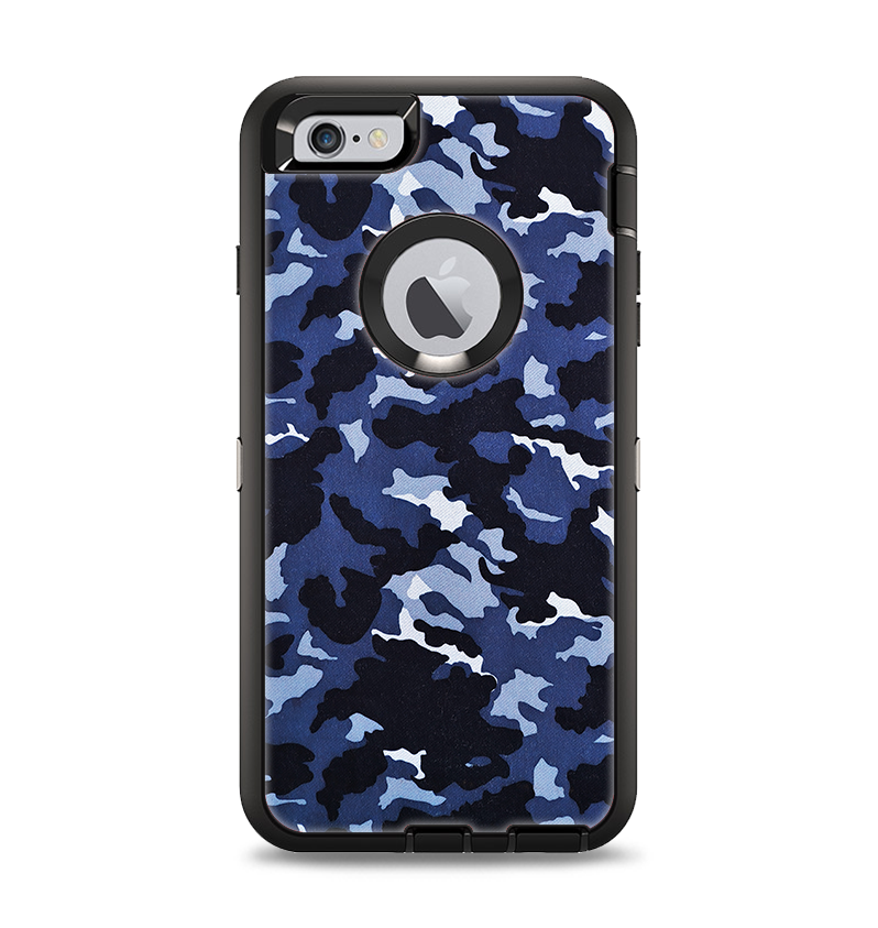 The Blue Vector Camo Apple iPhone 6 Plus Otterbox Defender Case Skin S -  DesignSkinz 144bb91eded7