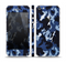 The Blue Vector Camo Skin Set for the Apple iPhone 5