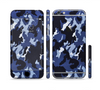 The Blue Vector Camo Sectioned Skin Series for the Apple iPhone 6