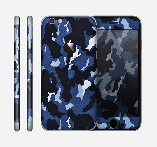 The Blue Vector Camo Skin for the Apple iPhone 6