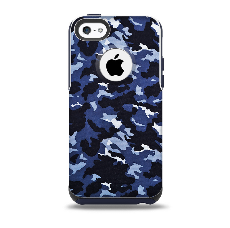 The Blue Vector Camo Skin for the iPhone 5c OtterBox Commuter Case