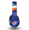 The Blue Vector Fish and Boat Pattern Skin for the Original Beats by Dre Studio Headphones