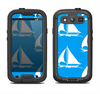 The Blue Vector Sailboats Samsung Galaxy S3 LifeProof Fre Case Skin Set