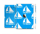 The Blue Vector Sailboats Full Body Skin Set for the Apple iPad Mini 3