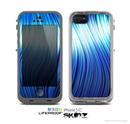 The Blue Vector Swirly HD Strands Skin for the Apple iPhone 5c LifeProof Case