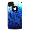 The Blue Vector Swirly HD Strands Skin for the iPhone 4-4s OtterBox Commuter Case