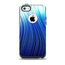 The Blue Vector Swirly HD Strands Skin for the iPhone 5c OtterBox Commuter Case