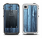 The Blue Washed WoodGrain Apple iPhone 4-4s LifeProof Fre Case Skin Set