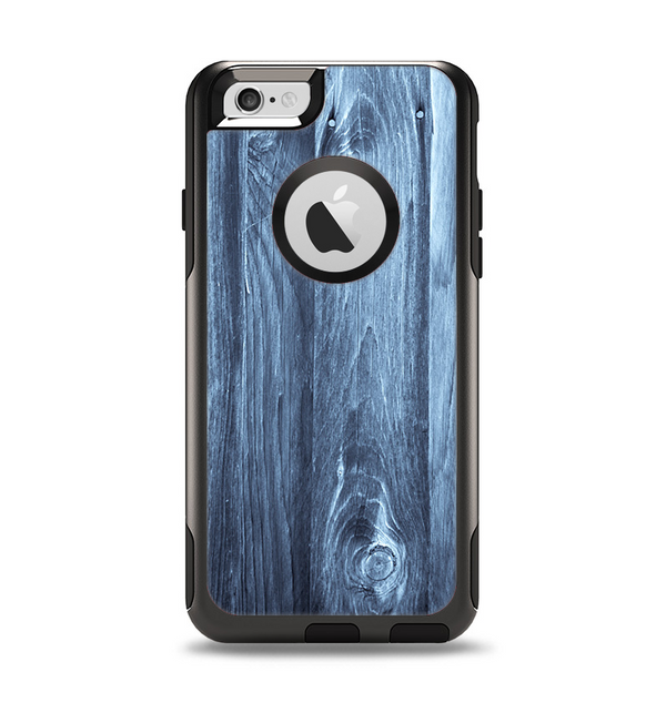 The Blue Washed WoodGrain Apple iPhone 6 Otterbox Commuter Case Skin Set