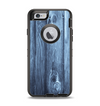 The Blue Washed WoodGrain Apple iPhone 6 Otterbox Defender Case Skin Set