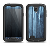 The Blue Washed WoodGrain Samsung Galaxy S4 LifeProof Fre Case Skin Set