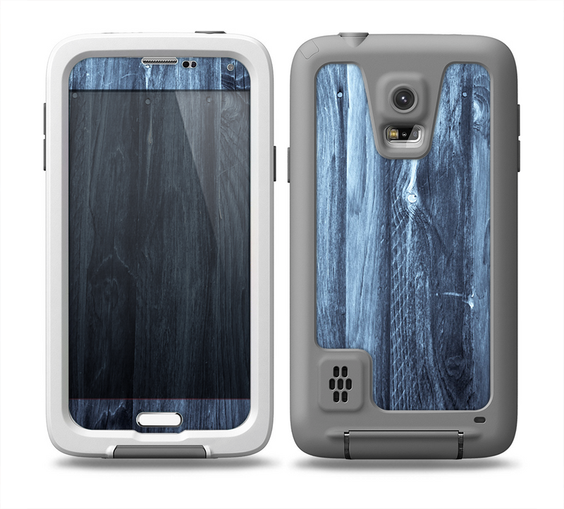 The Blue Washed WoodGrain Skin for the Samsung Galaxy S5 frē LifeProof Case