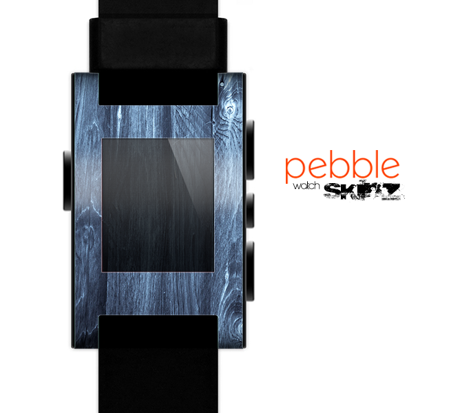 The Blue Washed WoodGrain Skin for the Pebble SmartWatch