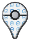 The Blue WaterColor BullsEye Pattern Pokémon GO Plus Vinyl Protective Decal Skin Kit