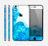 The Blue Water Color Flowers Skin for the Apple iPhone 6
