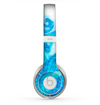The Blue Water Color Flowers Skin for the Beats by Dre Solo 2 Headphones