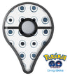 The Blue Watercolor Circle Polka Dots Pokémon GO Plus Vinyl Protective Decal Skin Kit