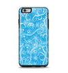The Blue & White Abstract Swirly Pattern Apple iPhone 6 Plus Otterbox Symmetry Case Skin Set