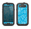 The Blue & White Abstract Swirly Pattern Samsung Galaxy S4 LifeProof Fre Case Skin Set