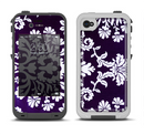 The Blue & White Delicate Pattern Apple iPhone 4-4s LifeProof Fre Case Skin Set