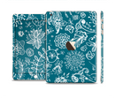 The Blue & White Floral Sketched Lace Patterns v21 Full Body Skin Set for the Apple iPad Mini 3