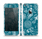 The Blue & White Floral Sketched Lace Patterns v21 Skin Set for the Apple iPhone 5