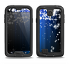 The Blue & White Rain Shimmer Strips Samsung Galaxy S4 LifeProof Fre Case Skin Set